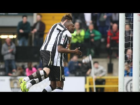 Shola Ameobi's first Notts goal