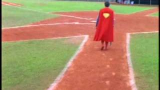Superboy playing the field all by himself