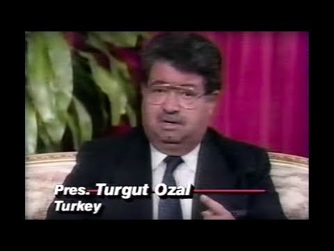 Turgut Özal - 1990 interview with CNN about Iraq Crisis