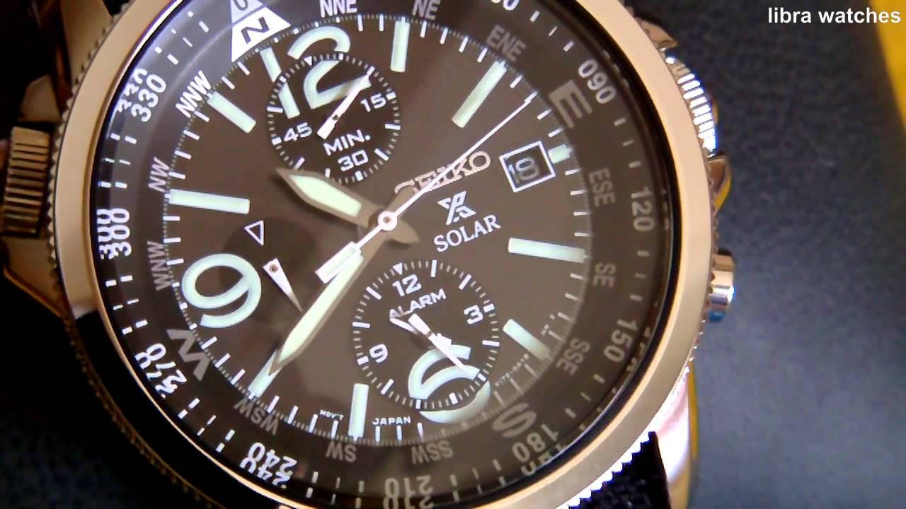 Seiko Prospex Solar Chronograph Alarm Cal V172 Youtube