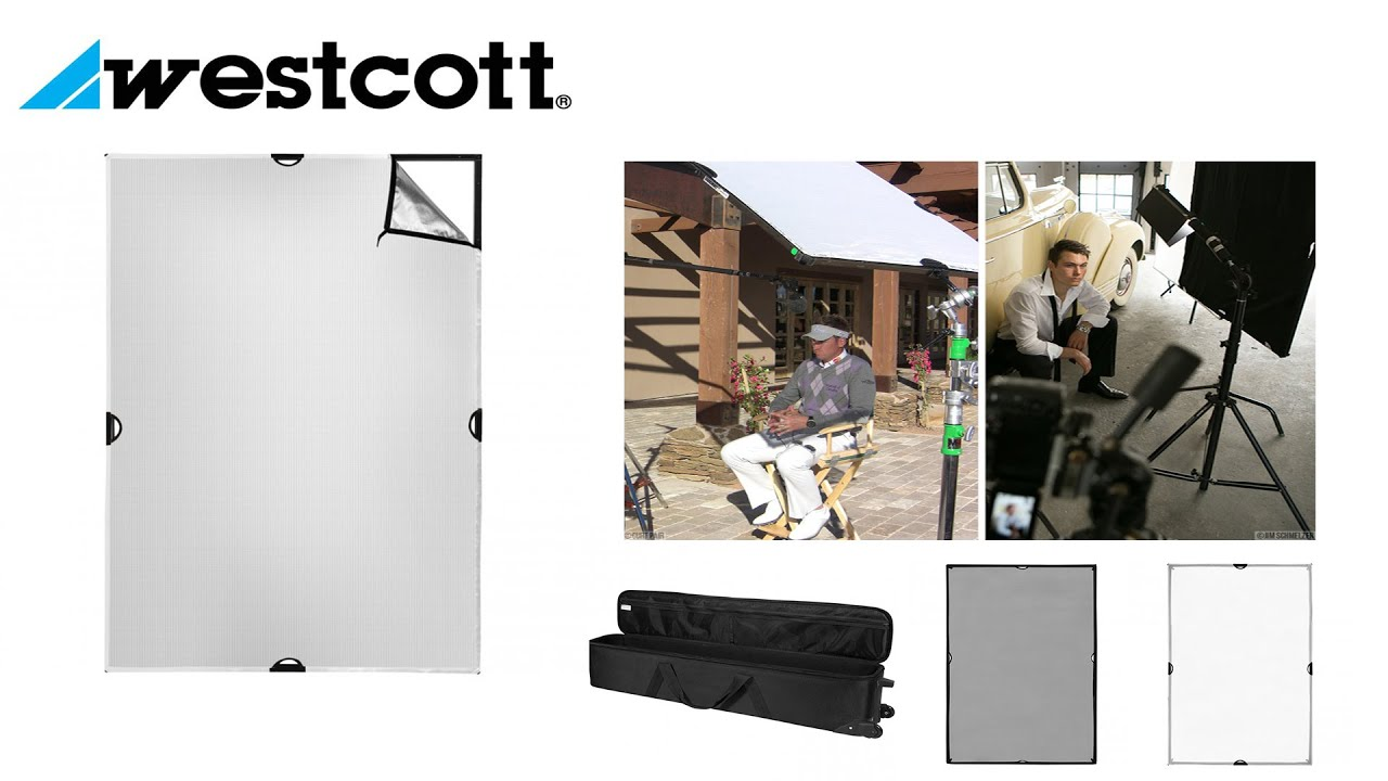 Westcott 4 x 6 Feet Scrim Jim Cine Kit Lichtformer-Panel-Set - YouTube