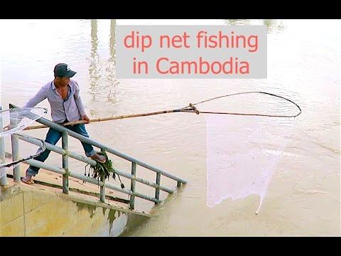 Dip Net Fishing in Cambodia - 7 Makara Dam at Kandal Province