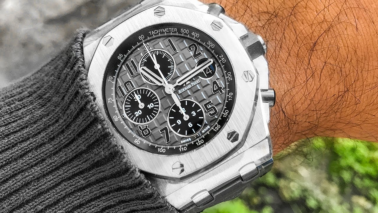 New audemars piguet royal oak offshore review stainless ap roo watches youtube for Royal oak offshore n7243