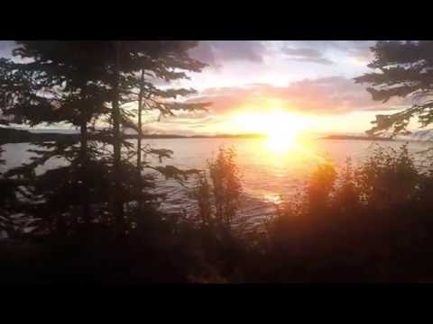 Isle royale-todd harbor sun set