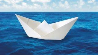 Как сделать красивый кораблик из бумаги)