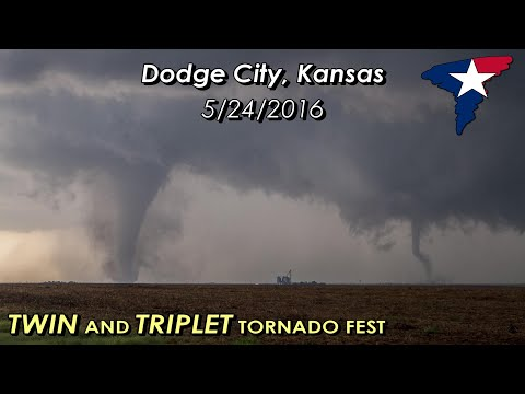 May 24, 2016 • Dodge City, KS Tornadoes (HOUR LONG!)