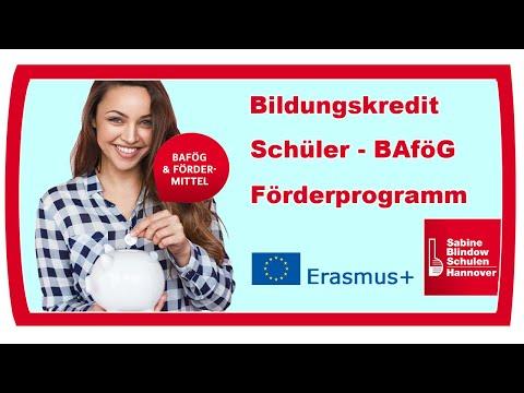 Schüler-BAföG  / Bildungskredit / Erasmusplus / Förderprogramm