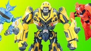Best of Transformers Giant Bumblebee Adventures Sideswipe, Optimus Prime, Ratchet, Grimlock & More!