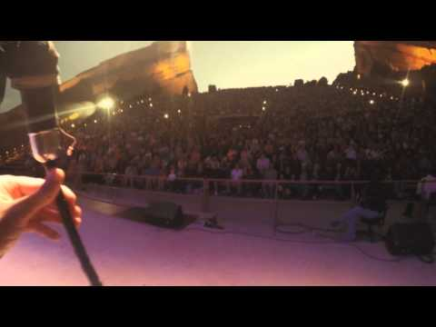 Celtic Woman GoPro with piper Anthony Byrne on his McCallum pipes at Red Rocks during Amazing Grace.