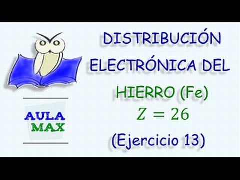 Distribucin electrnica del hierro ejercicio 13 youtube urtaz Gallery