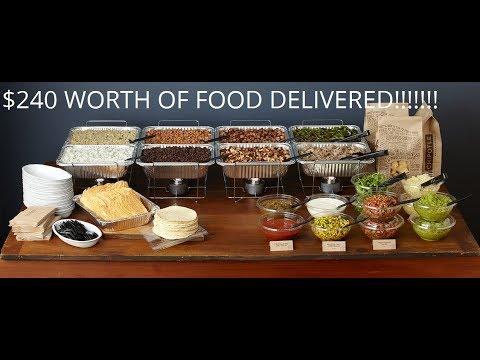 My 1st DoorDash Catering Order!  $240 worth of food!