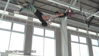 Fly'n Fit trapeze studio 日本初屋内空中ブランコ施設 02 LEVEL2 Hocks Off Catch.