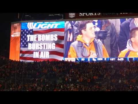 The National Anthem (Dec.12,2013 @Denver, Sports Authority Field at Mile High, Chargers vs Broncos)