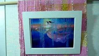 織りはシルミチュー様、絵は、ぽにょのお母さんのイメージ(草場一寿さんの陶板画) 本調子 「崖の上のポニョ」 *横書きなので、左から...