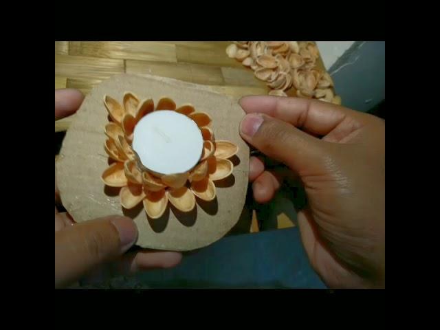 DIY Reuse Pista shells craft art