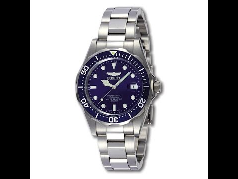 Invicta 9204 Men's Stainless Steel Pro Diver Watch Review Video