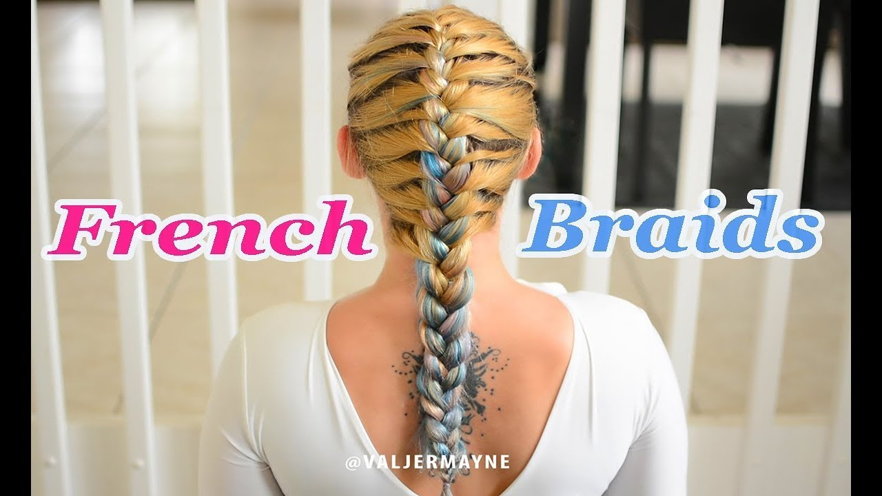 HOW TO French Braid Your Own Hair For Beginners - YouTube