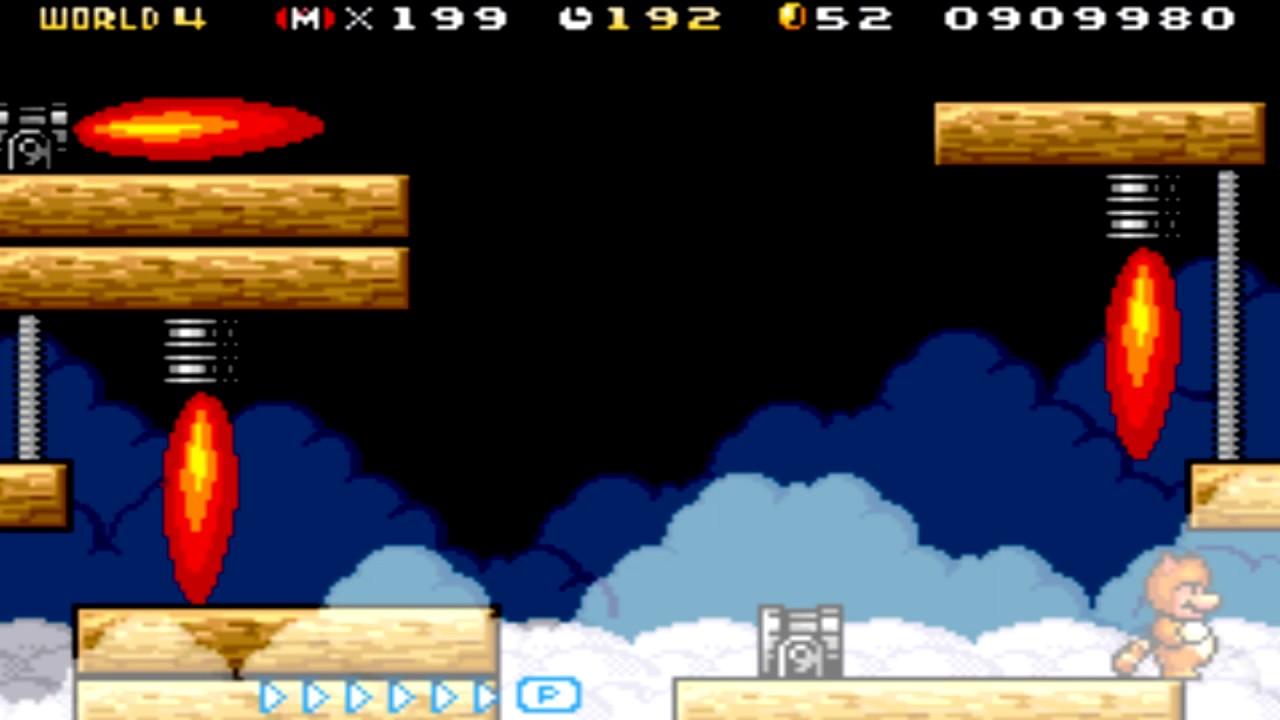 Super Mario Advance 4 Super Mario Bros 3 World 4 Airship Youtube