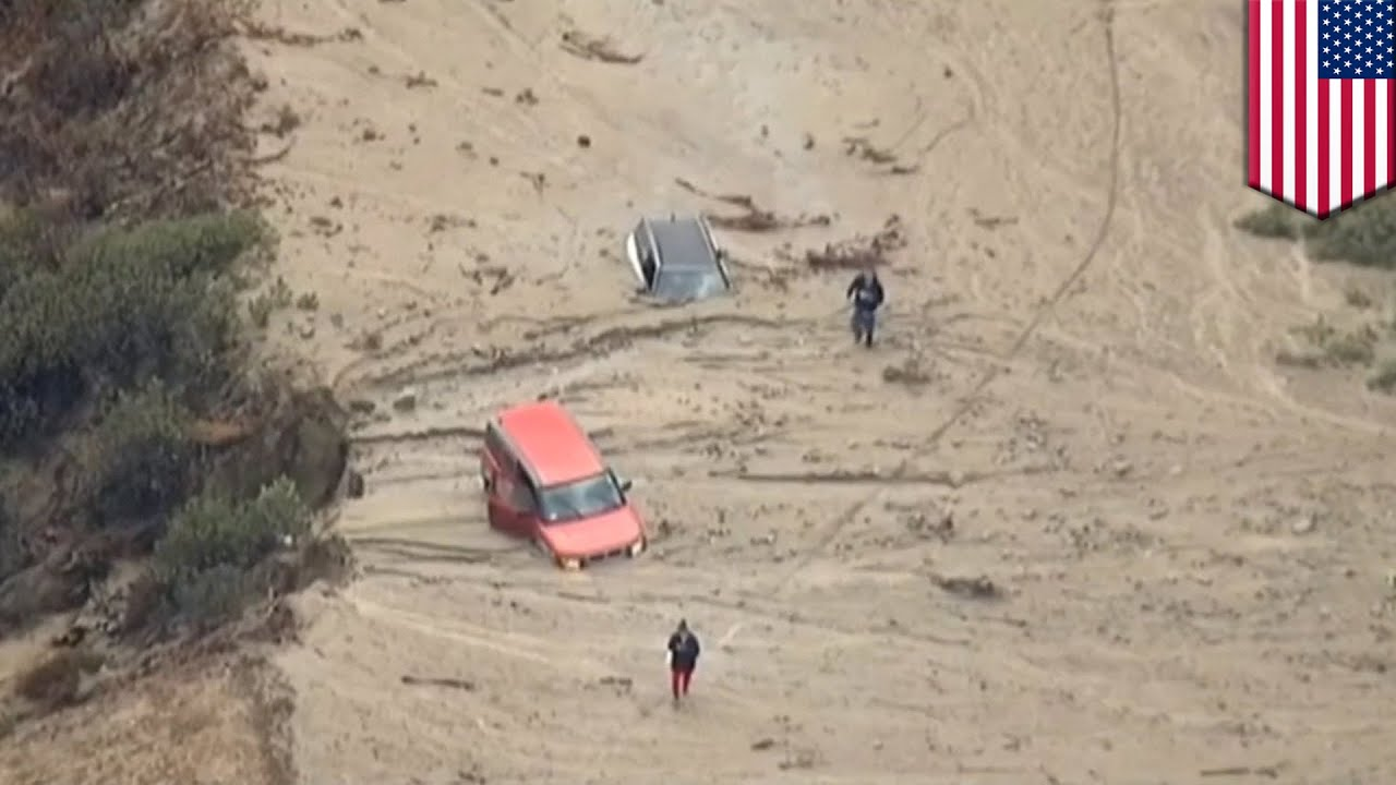 Hundreds of cars stuck in mud rivers on California roads