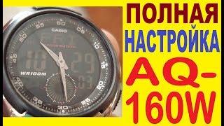 Параметри Casio AQ-160W інструкція з управління