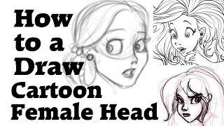 Cómo dibujar una cabeza femenina de dibujos animados