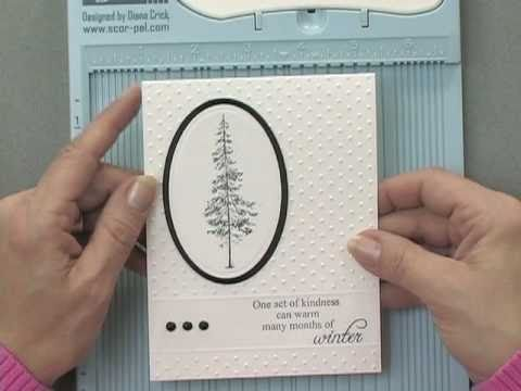 Partial Embossing with a Cuttlebug Folder