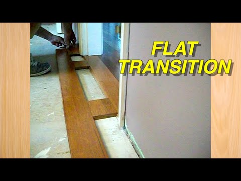 how-to-hardwood-floor-installation-with-flat-transition-diy-tricks