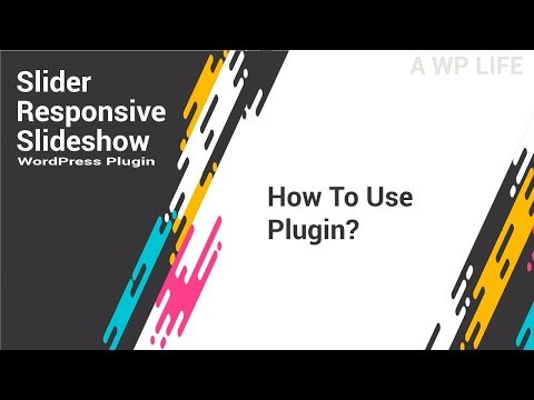 Slider Responsive Slideshow Wordpress Plugin   How To Use Plugin