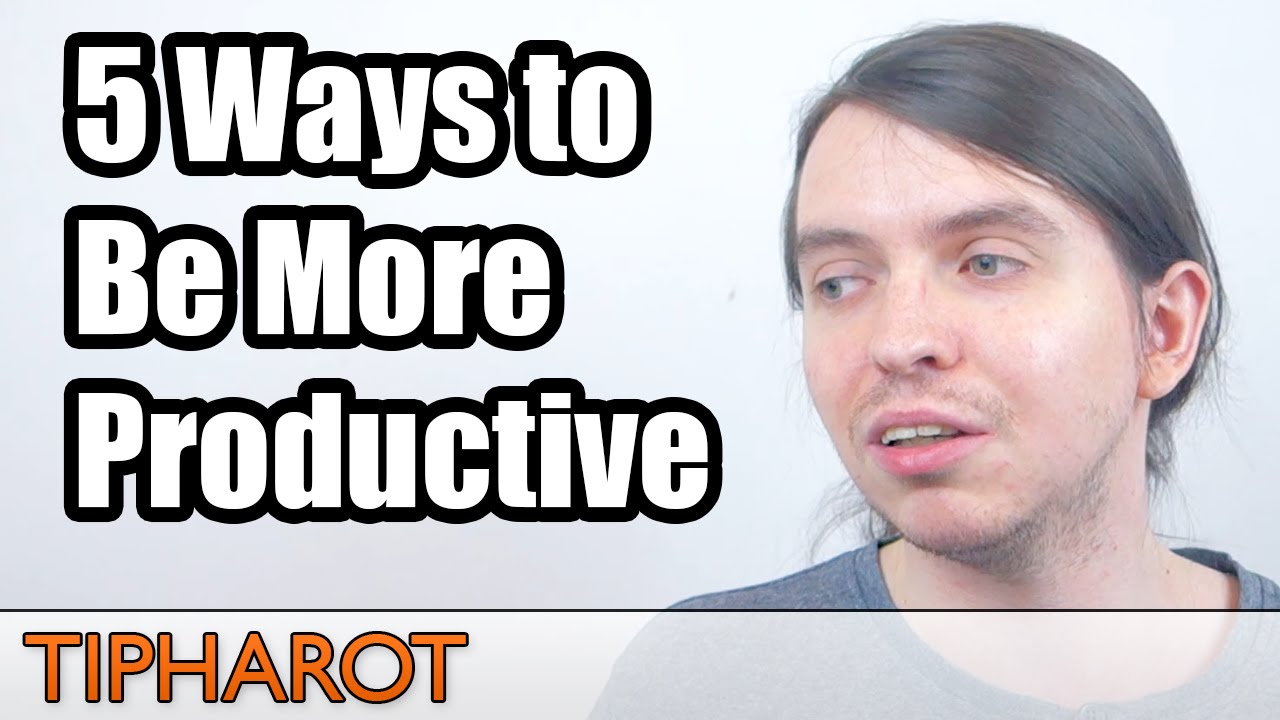 how to be productive at work tips