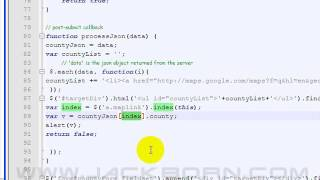 Lesson15: Demo11 Detail JSON data from google map using jQuery Free HD Video