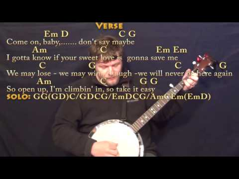 Take It Easy (Eagles) Banjo Cover Lesson with Chords/Lyrics - YouTube