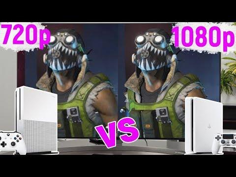 Xbox One Vs PS4    720p Vs 1080p   Реальная разница в графике
