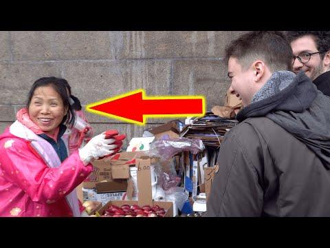White Guys Bargain in Perfect Mandarin at Chinese Market, Amaze Vendors