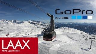 Skiing in Switzerland - GoPro LAAX , Switzerland with GoPro 6 (2018 on Ski) 4K