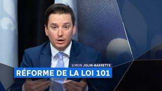 Réforme de la loi 101 : entrevue avec Simon Jolin-Barrette