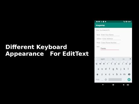 Different On-Screen Keyboard Appearance, EditText In Android