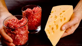2 стакана фарша и кусочек сыра! Простой рецепт, который будут выпрашивать все гости!
