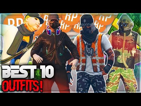 BEST 10 *MODDED OUTFITS! WORK! 1.40! USING CLOTHING GLITCHES ( GTA 5 OUTFIT )