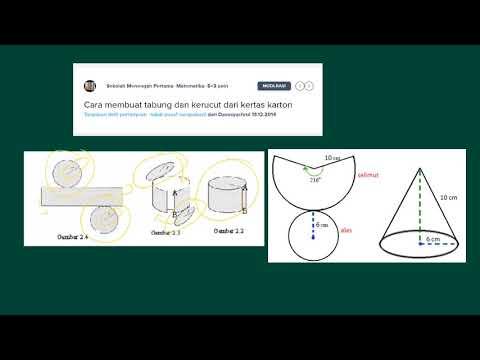 cara membuat tabung dan kerucut dari kertas karton - YouTube afdb11df45