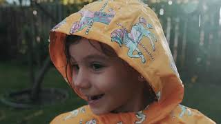 Holly and Beau kids color changing raincoats and umbrellas