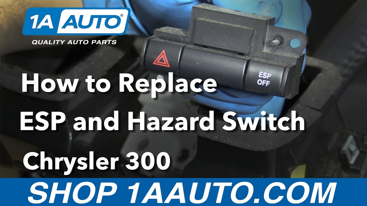 how to replace esp hazard switch 05 10 chrysler 300 youtubehow to replace esp hazard switch 05 10 chrysler 300