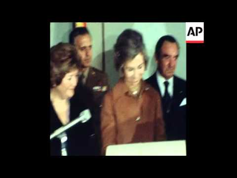 UPITN 12 6 80 QUEEN SOFIA OF SPAIN ARRIVES IN BUENOS AIRES