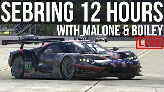 iRacing - 12 Hours Of Sebring With Boiley & Malone PART 1