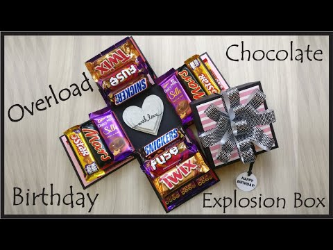 Chocolate Explosion Box || Best Birthday Gift || Two Layer Chocolate Overload Box