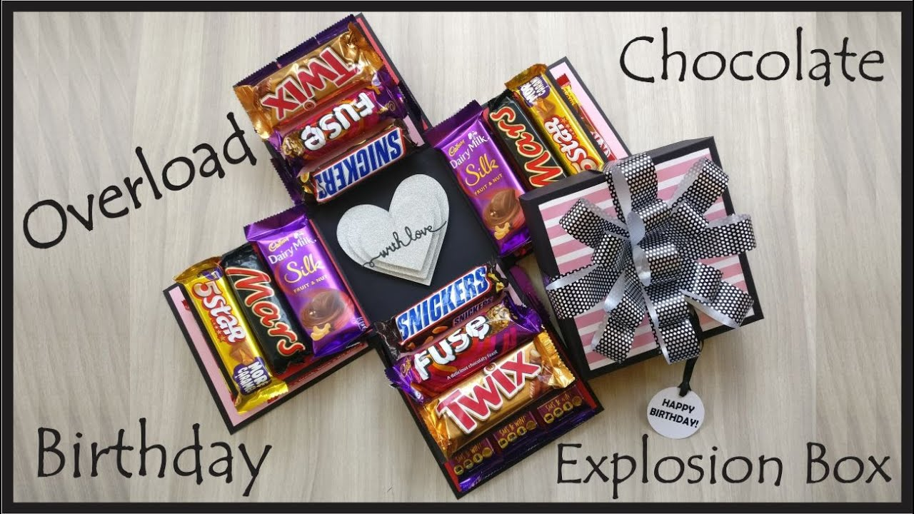 Chocolate Explosion Box Best Birthday Gift Two Layer