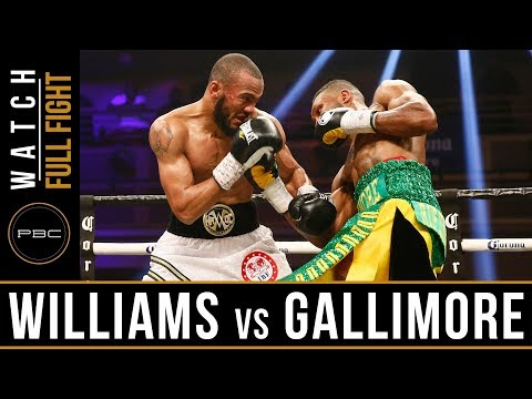 Williams vs Gallimore Full Fight: April 7, 2018 - PBC on Showtime