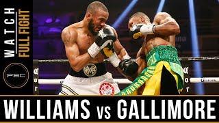 Williams vs Gallimore Full Fight: April 7, 2018 - PBC on Showtime