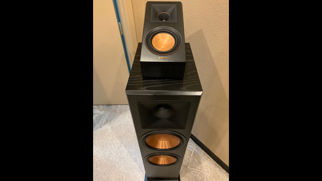 Klipsch RP-500SA WALNUT CHIP AND DENT 2 Speakers.