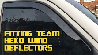 Fitting Team Heko wind deflectors - Self built DIY VW T5 camper conversion