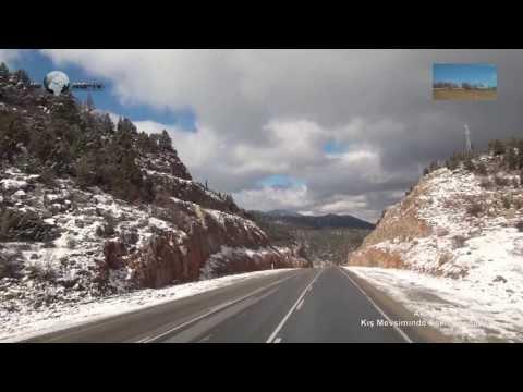 akseki konya yolu kış mevsiminde saklı cennetler